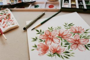 decoupage-salveta-slikanje