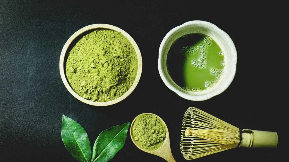 zeleni čaj za lice