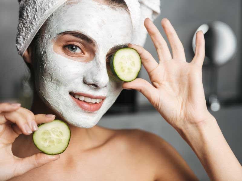 maska za lice od kvasca i krastavca